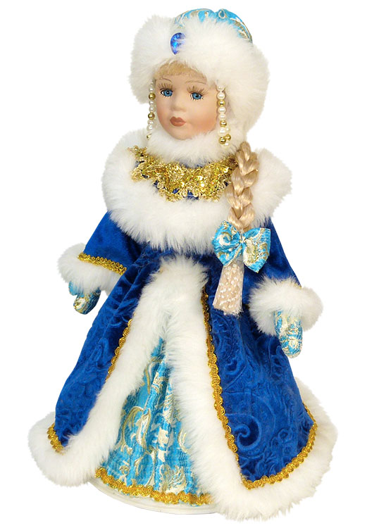 Снегурочка в темно-синем пальто