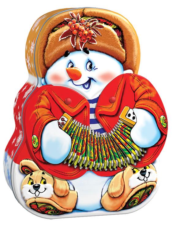 снеговичек с раздвижной гармошкой